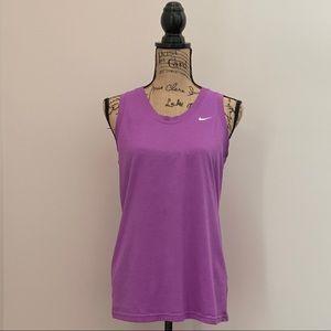 Nike Dri-Fit Purple Sleeveless Tank Top Size Large